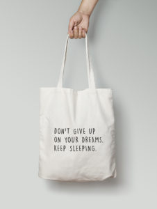 totebag Dont give up 2